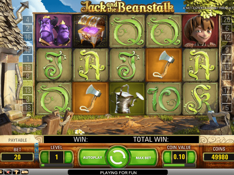 Jack and the beanstalk tragamonedas gratis Bonos de Net Entertainment - 69107