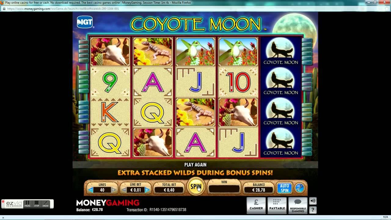 Tragamonedas Gratis Coyote Moon maquinas aristocrat juegos - 11048