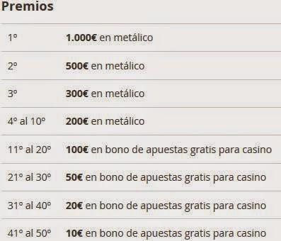 Bonos bienvenida casino premios en el Maratón Total - 98022