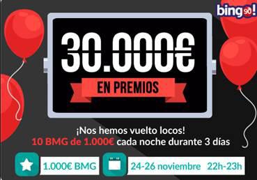 Premios en el Maratón Total tombola bingo online free - 62462