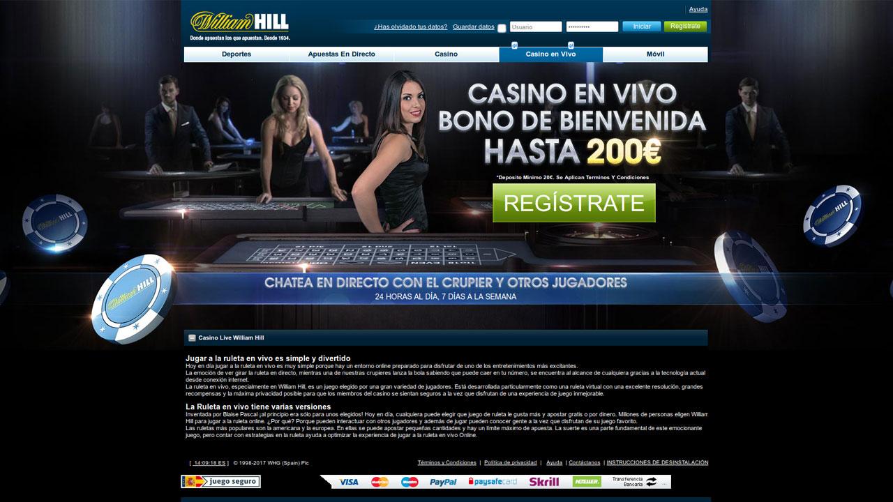 Hill williams casino online Valparaíso bono sin deposito - 60751