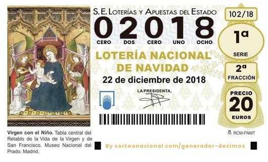 Loteria nacional navidad 2019 descargar juego de Uruguay - 27586