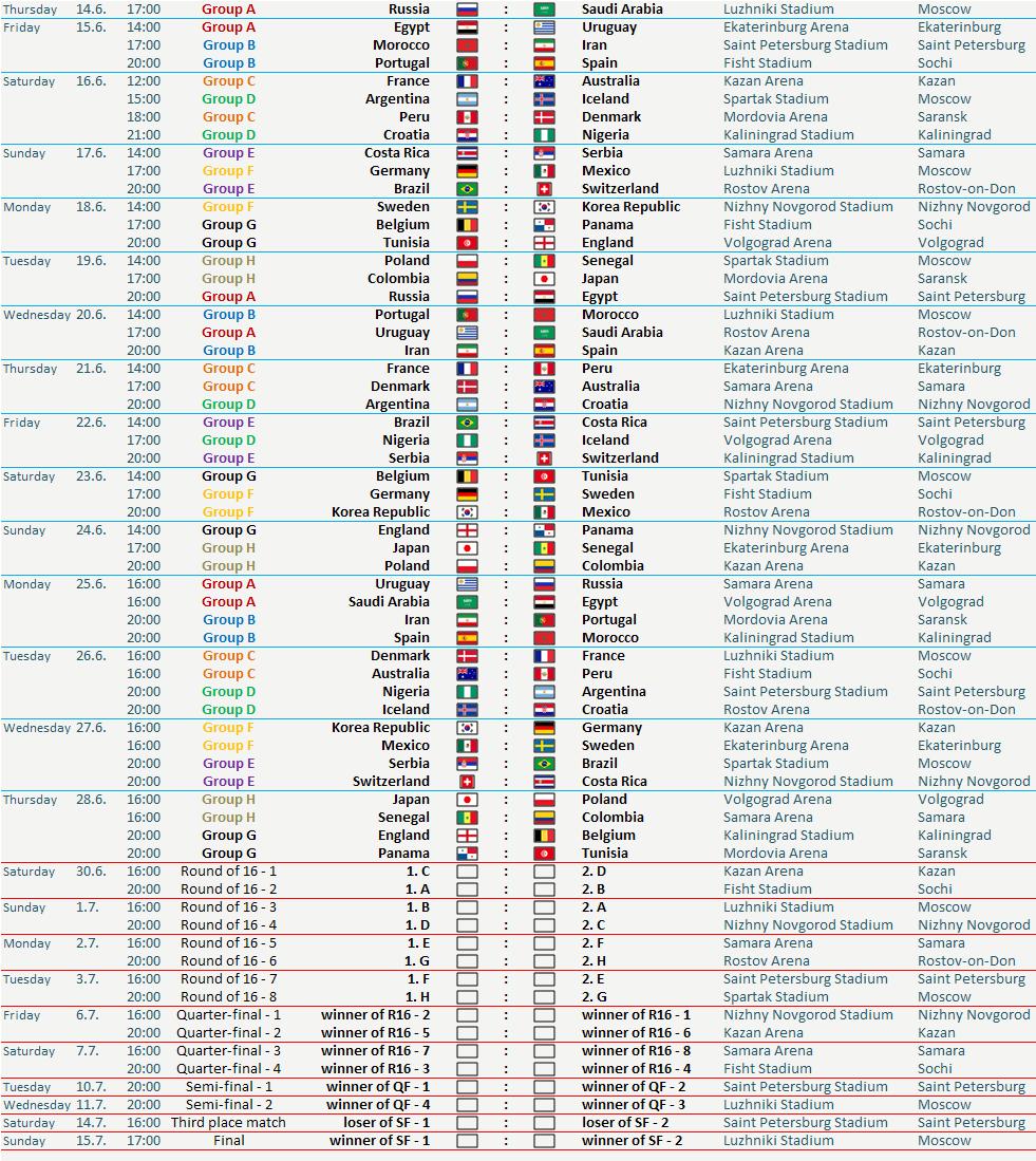 Cronograma mundial juegos QuatroCasino com - 81027