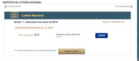 Unibet online lotería Niño - 1427