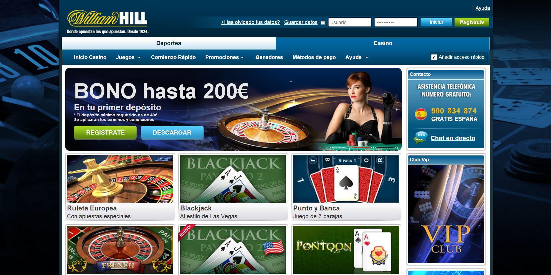 Hill williams casino con tiradas gratis en Zapopan - 99509