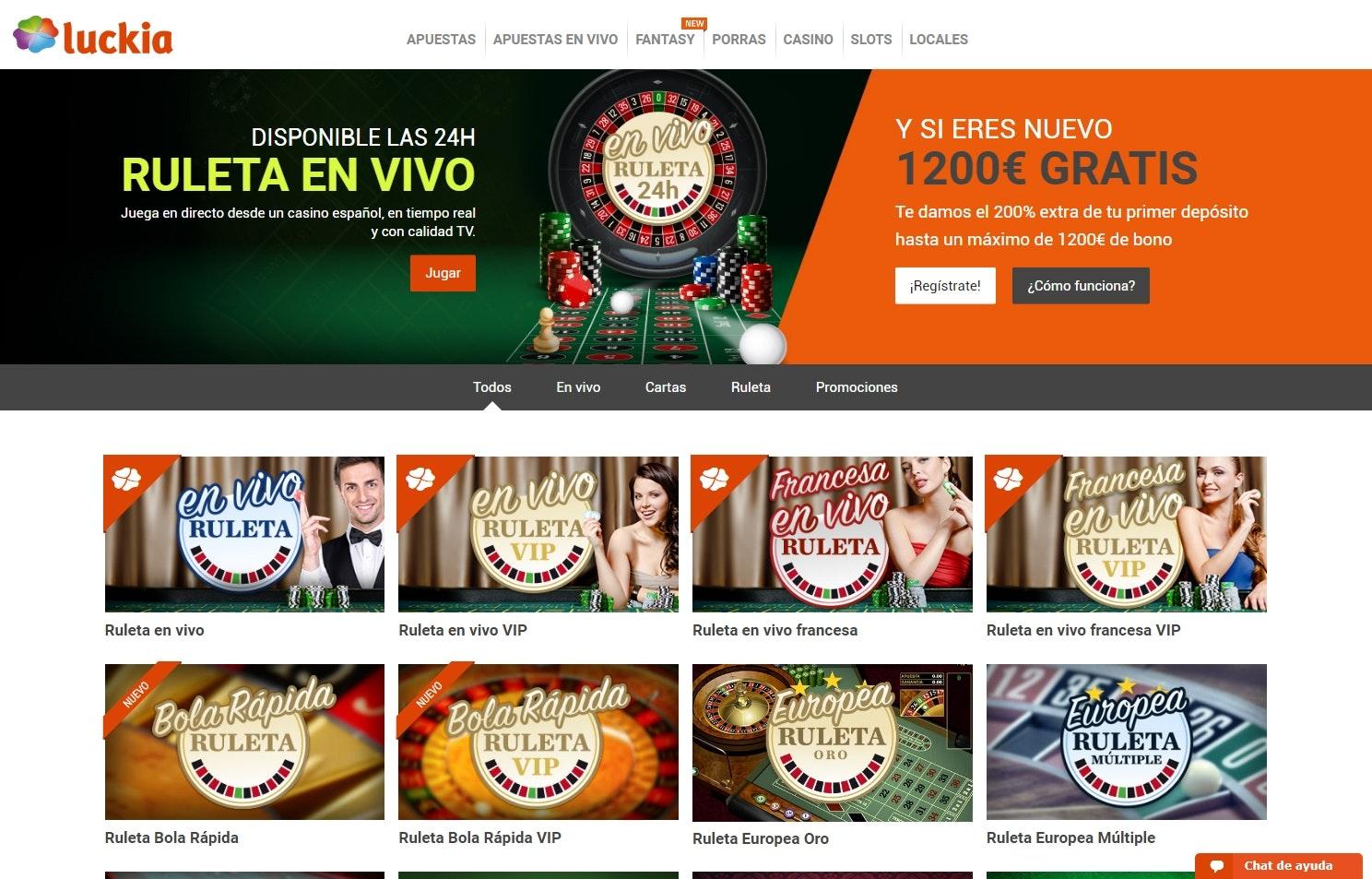 Promociones para jugadores latinos luckia apuestas entrar - 77286