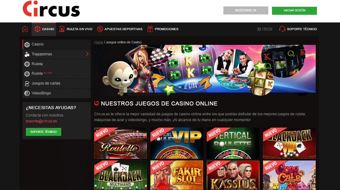 Circus apuestas online - 25166