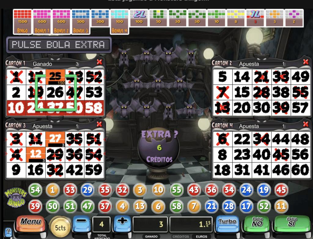 Bingo juego de mesa tragaperras MGA - 43522