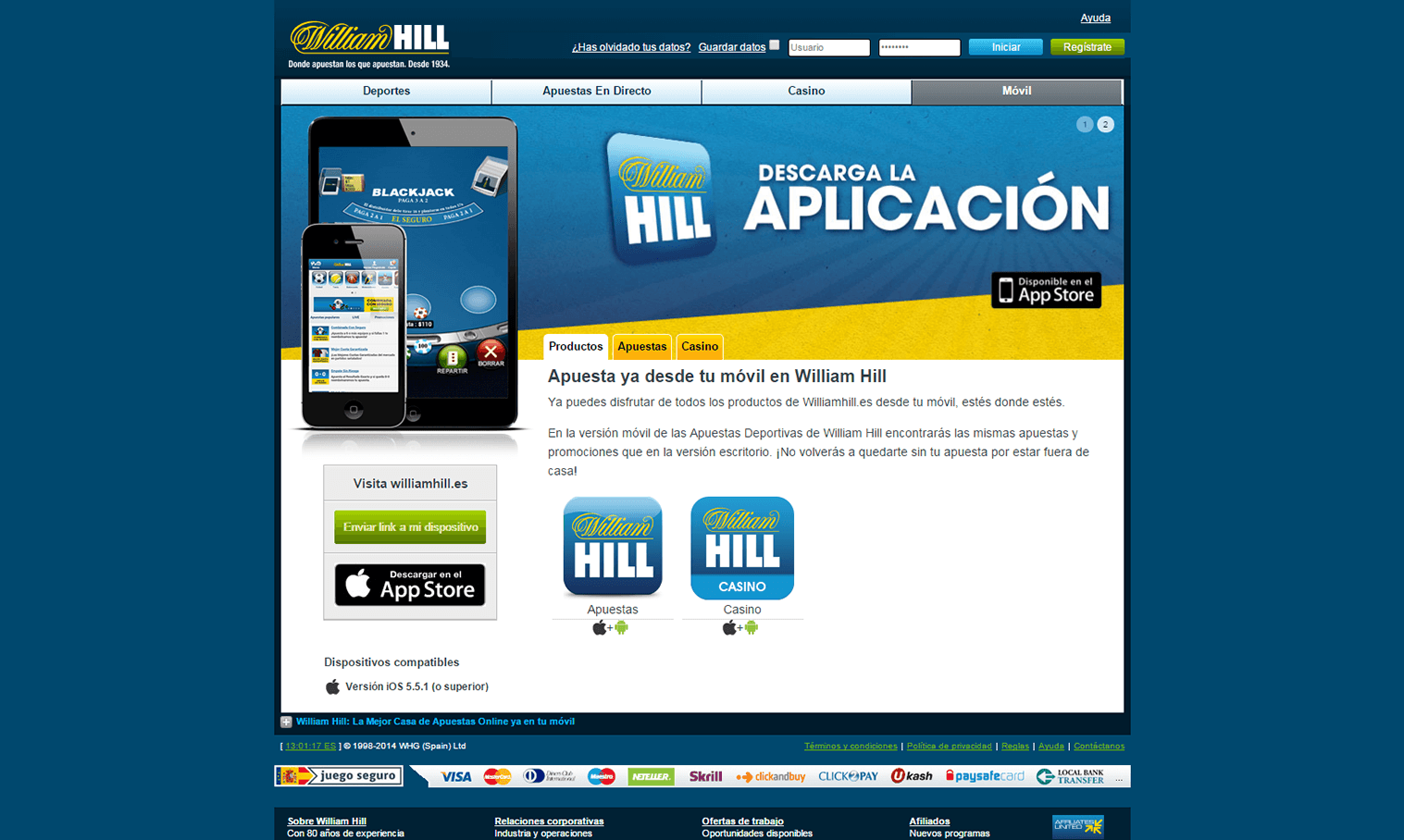 William hill app casino online legales en Coimbra - 64441