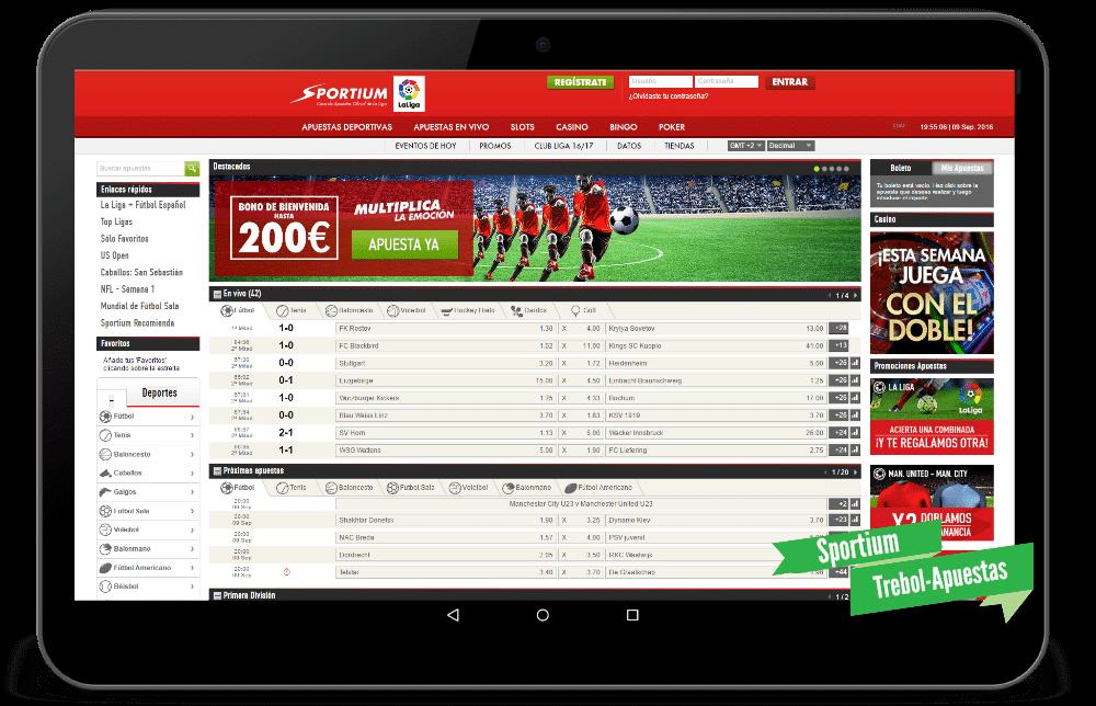 Pagina apuestas deportivas app Sportium bono - 25643
