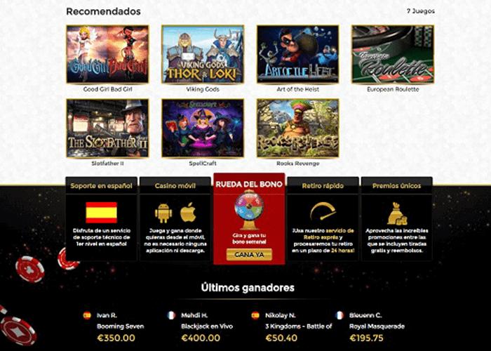 Gran bono de bienvenida juegos de casino online - 74499