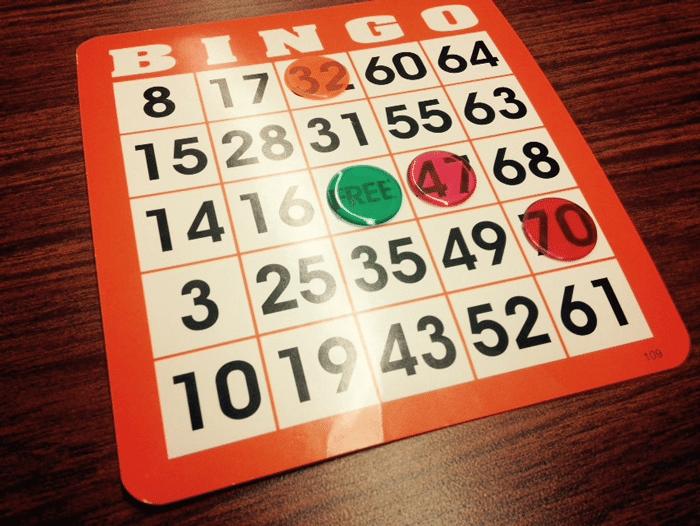 Bingo juego de mesa promociones semanales Casino - 27271