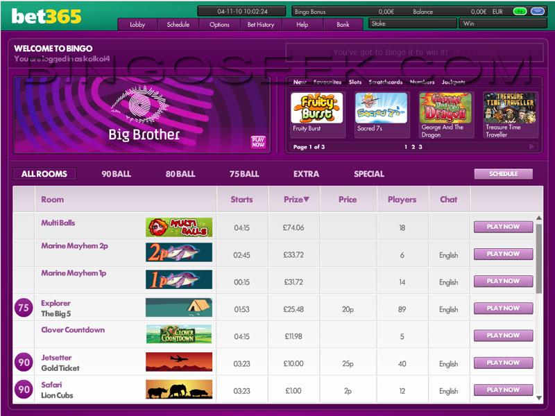 Bonus code bet365 5 euros gratis BINGO Portugal - 68475