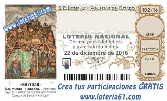 Unibet online lotería Niño - 41818
