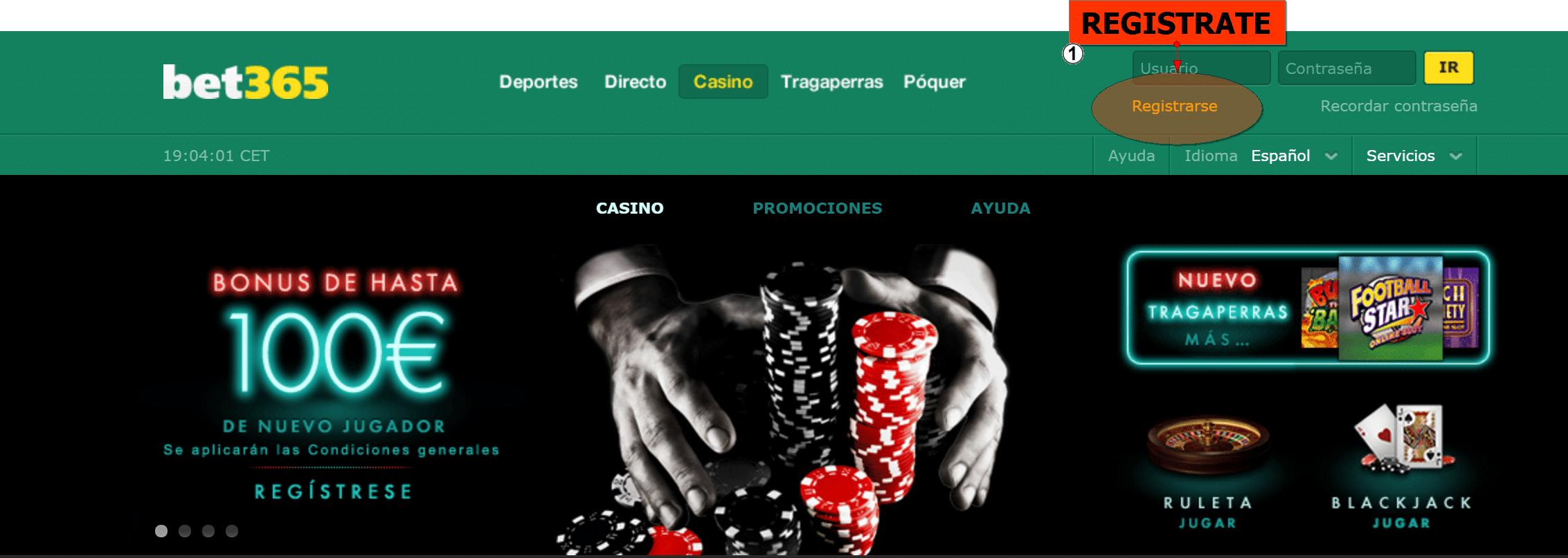 Bet365 registrarse pagos Seguros del casino - 24999