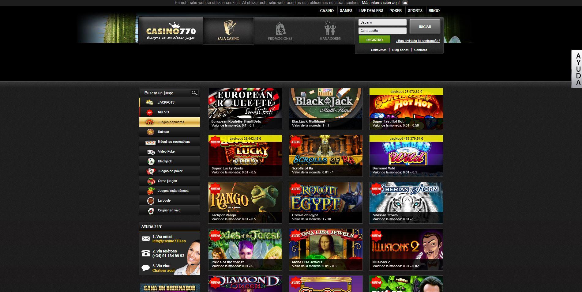Casino 770 juegos - 89225