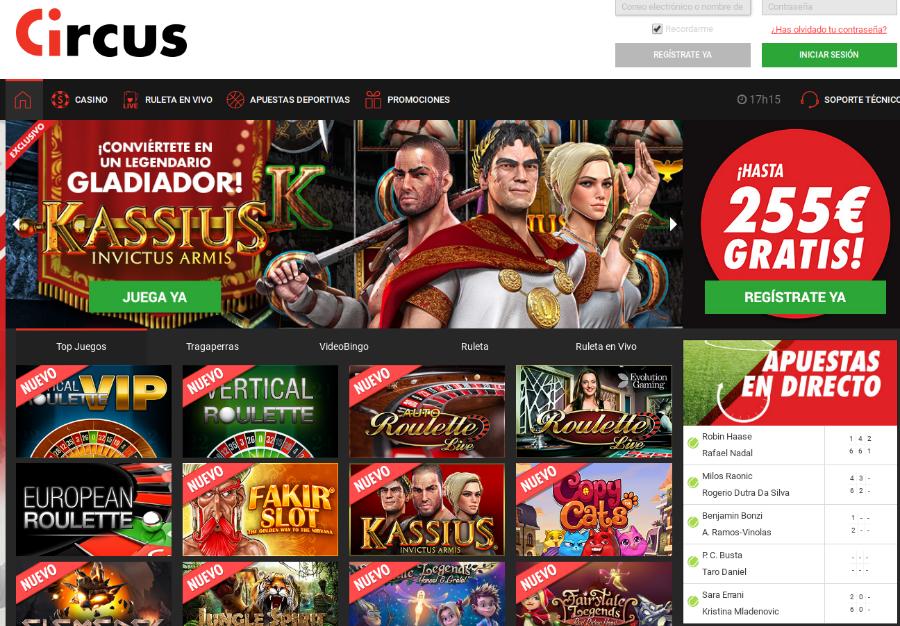 Circus apuestas juegos - 21006
