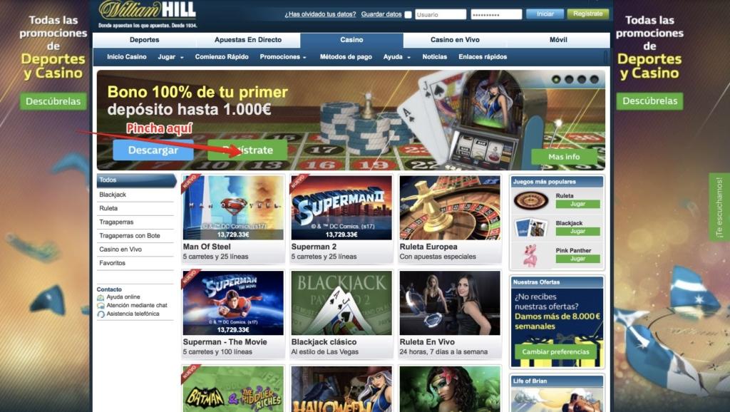 Hill williams casino online Valparaíso bono sin deposito - 75555