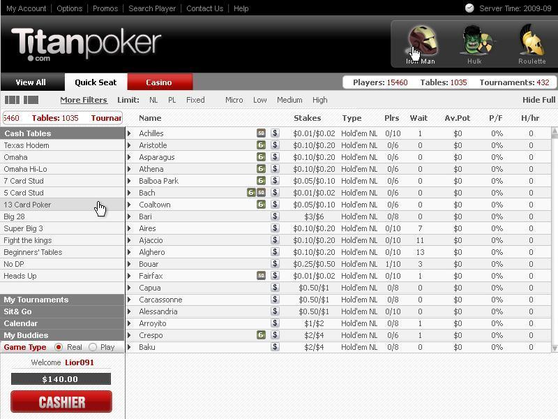 Titan poker - 98098