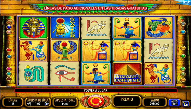 Tragamonedas pharaohs por dinero real México - 74511