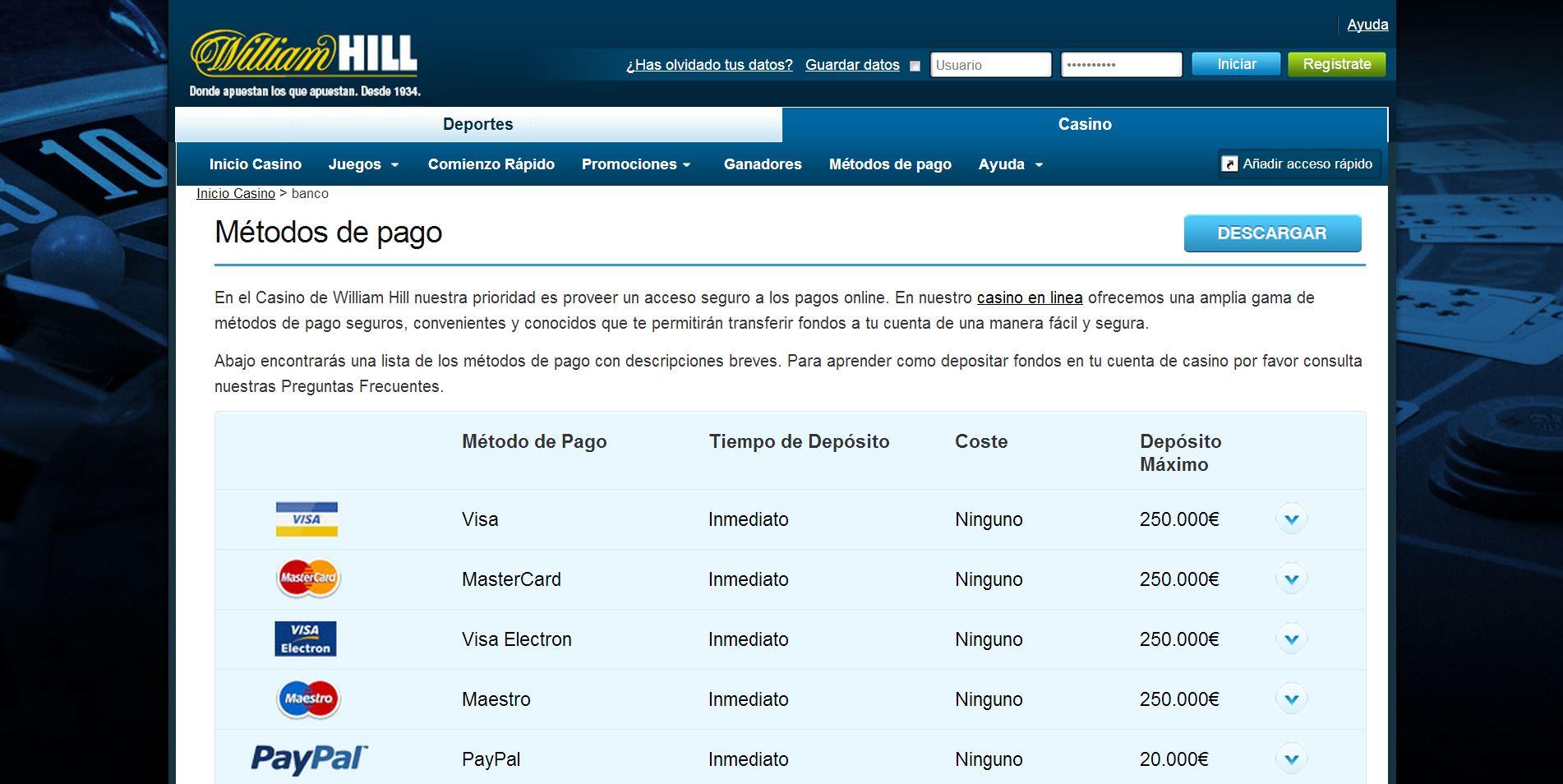 William hill international mejores casino Paraguay - 29810